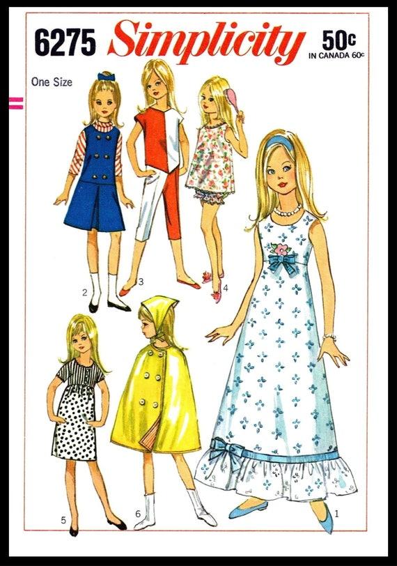 PDF Digital Delivery Simplicity 6275 SKIPPER Vintage Fashion Doll ...