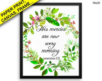 His Mercies Are New Every Morning Canvas Art His Mercies Are New Every Morning Printed His Mercies Are New Every Morning Framed Art His