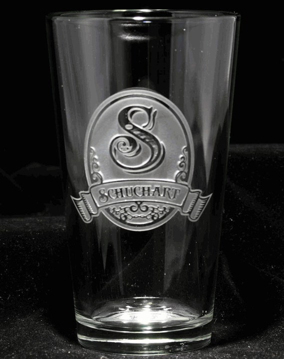Beer Glasses Pub Pint Custom Engraved Personalized Set Of 4