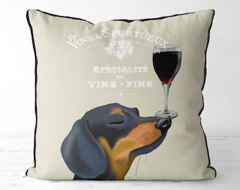 Dachshund pillow Doxie cushion wine gift for wine lover best wine gifts funny dachshund gift dachshund lover gift dachshund owner gift