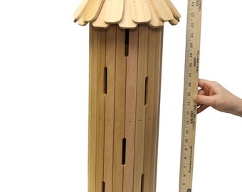 Giant 29 Inches Tall Round Butterfly House for Your Flower Garden
