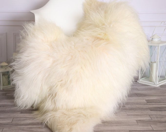 Icelandic Sheepskin | Real Sheepskin Rug |  Super Large Sheepskin Rug Ivory | Fur Rug | Homedecor #MIHISL13