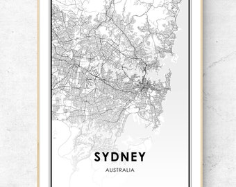 Sydney - City Map - PDF File - 50x70cm - Ready to print