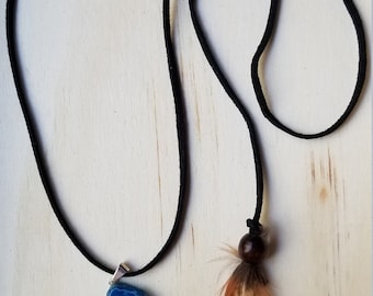 Agate Feather Necklace