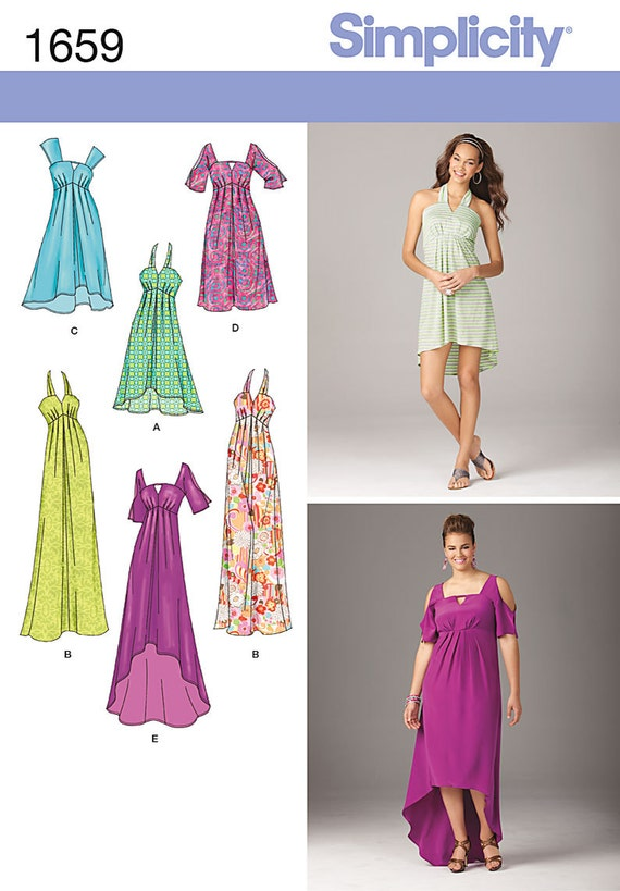 Simplicity Sewing Pattern 1659 Misses\' & Plus Size Dresses