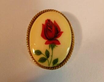 Rose Flower Brooch