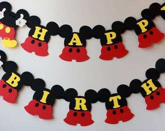 Mickey photo banner for Disney inspired Mickey Mouse birthday
