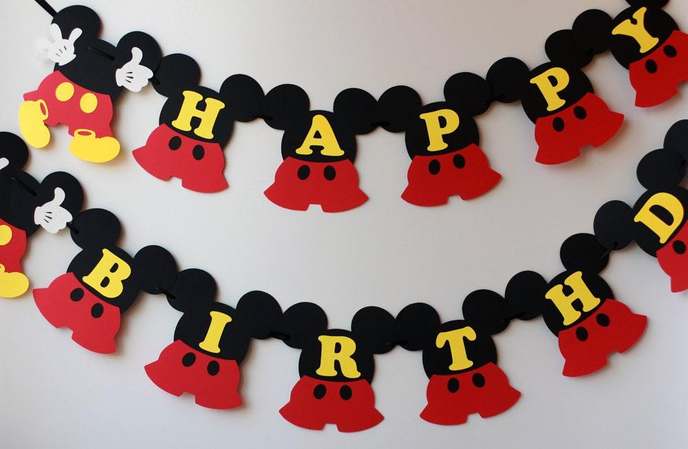 Uitzonderlijk Mickey birthday decorations Mickey Mouse birthday banner 1st @MP68