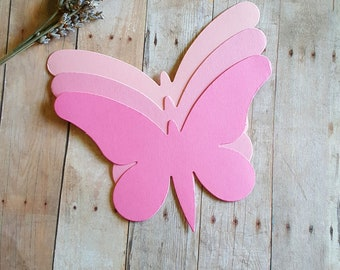 Butterfly die cuts (A) Blush Pink Butterfly die cut, Pink Butterfly die cuts,Wedding Decor,Paper butterflies,Large butterfly die cuts