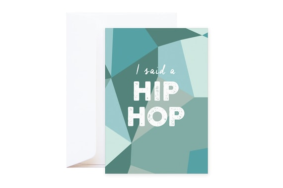 Hip Hop Wishing Card // Modern funny post card // including envelope // single card // greeting card