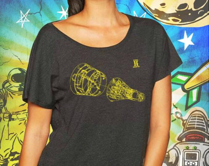 Project Gemini / Women's Vintage Black Dolman Shirt