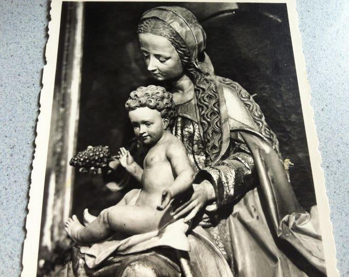 Vintage Religion Church Madonna Postcard Photo