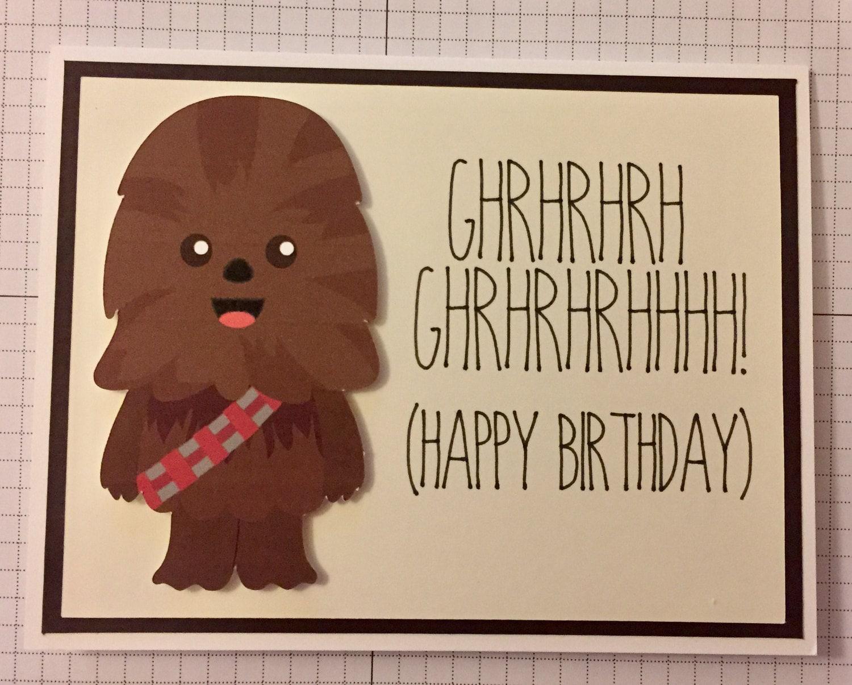 Disney star wars chewbacca birthday card zoom bookmarktalkfo Choice Image