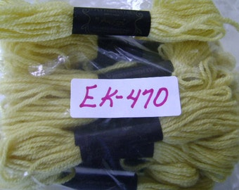 Yarn, Paragon, 100% Wool Crewel Needlepoint, Color #377 Citrus Yellow, 8.8 Yards