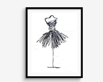 Black and White Clip Art Ballerina Tutu