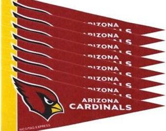 """Arizona Cardinals NFL Mini Pennants, 4"""" x 9"""""""
