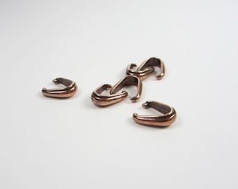 20 Antique Copper Tierracast Nouveau Pinch Bails