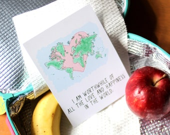 Affirmation Cards For Kids - Lunchbox Notes - Lunchbox Love - Love Notes - Supportive Cards - Positive Quotes - Cards For Kids - Affirmation