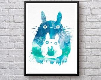 My Neighbour Totoro Art Print, My Neighbor Totoro Poster, Tonari no Totoro 1988 Poster Print, Totoro Wall Art, Studio Ghibli Wall Poster