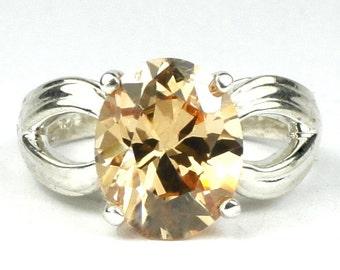 Champagne CZ, 925 Sterling Silver Ladies Ring, SR361