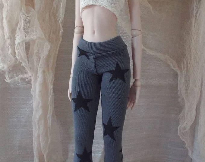 Black Stars Print Leggings for Smart Doll and Dollfie Dream