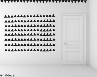 FREE SHIPPING Wall Decal Triangle BLACK, Each Kit 238 . Wall Sticker. Homedecor.Nursery Wall Art.Geometric Wall Decal Kids Wall Decal