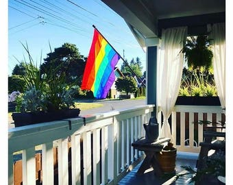Rainbow Flag (Various Sizes) Handsewn in the USA