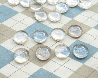 50 pcs 10mm of Crystal Glass Dome Round Cabochon Cameo
