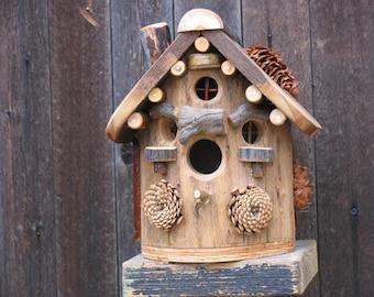 Rustic Elm Birdhouse #6