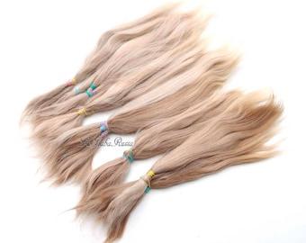 Doll hair suri alpaca pale blonde 7-8 in BJD Blythe  hair combed locks nice mohair hair pretty msd bjd reborn reroot alpaca hair suri combed