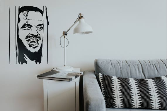 Here is Johnny!! The shining tribute wall decal, Jack Nicholson, Motion Picture Derivative Works, Scary, Pop Culture, Icon, Iconic, Vintage