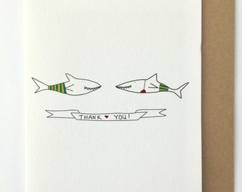 You're Fintastic Shark Thank You Card