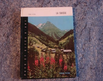 book about Switzerland with color photos and black and white 1964