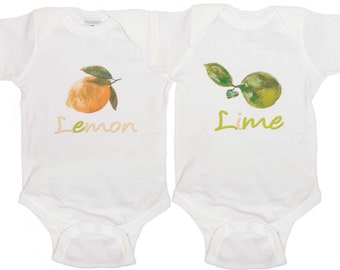 Cute Twin Romper Boy Girl Twin bodysuits Baby Boy Twins Girl Twins Outfits for Twins Newborn Creepers to Toddler T Shirts