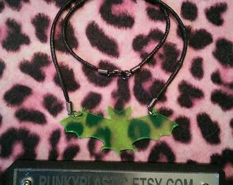 Acrylic bat necklace