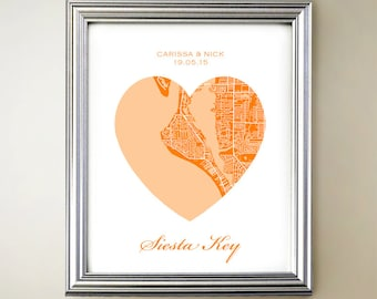 Siesta Key Heart Map