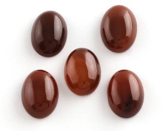 18x25mm, 2 natural red agate gemstone