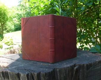 Blank Journal, handmarbled endsheets