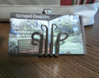 Business Card Holder-Repurposed Silverware-OOAK from  Silverware'ables