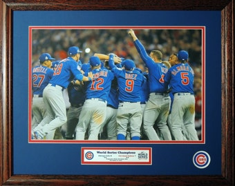 Chicago Cubs 2016 World Series Champions Custom Framed Picture