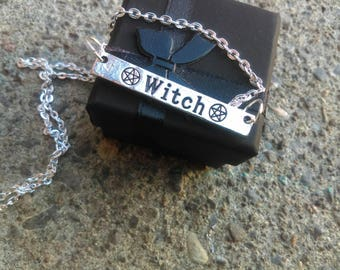 Witch Necklace / Bar Necklace / Gothic necklace / witch necklace / pagan necklace / gothic jewelry / wicca necklace / witchcraft