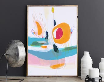 Colorful Painting -Colorful Abstract Art - Modern Painting - Original Modern Art - Modern Office Decor - Abstract Painting - Light painting