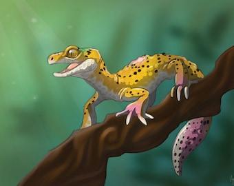Gecko lepoard on a branch