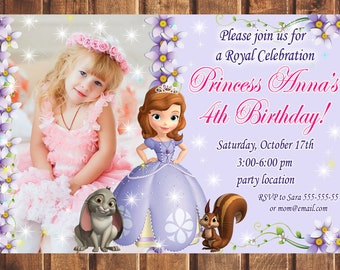 Sofia the first invitation etsy quick view sale sofia the first birthday invitation stopboris Gallery