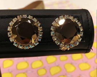 Vintage Juliana (DeLizza & Elster) Reflective Slate Earrings