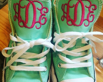 Woman's Embroidered Converse, Converse sneakers, monogrammed sneakers, Chucks, monogrammed converse, decorated converse, decorated sneakers,