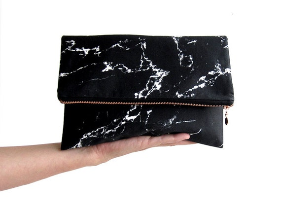 Renna Deluxe marble clutch bag wristlet by renna deluxe