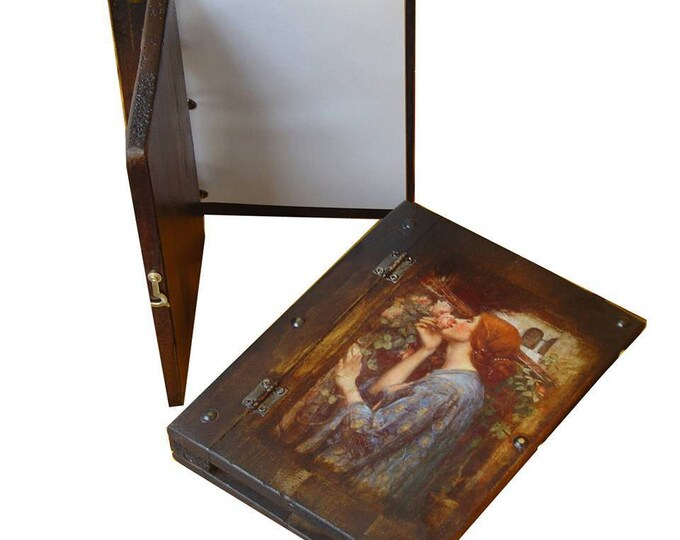 Decoupage wooden photo album