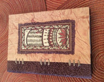 paper supplies ... beautiful ARTISAN NOTE PAD Cover Madhubani Collection handmade paper with pen ...