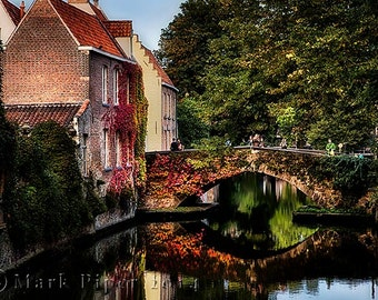 Brugge  Canal, Color Photography, Brugge Belgium, Citycape Photography, Europe, Belgium